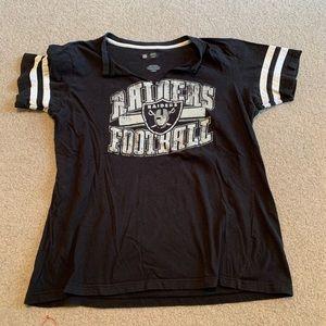 Oakland Raiders women's short sleeve shirt